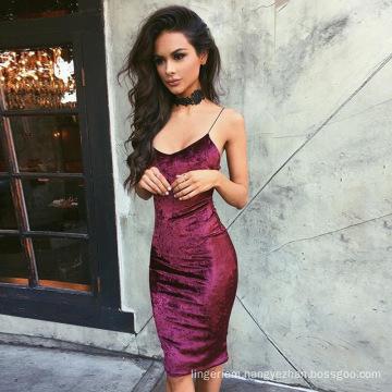 Hot-selling Women Sexy Dress Basic Casual Vel-vet Lingerie