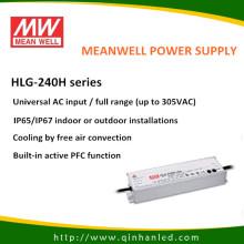Controlador de fuente energía de 240W LED IP65 (HLG Meanwell - 240H)