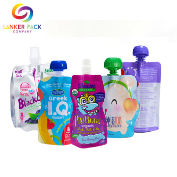 Reclosable Custom Baby Food Doypack Pouch Dengan Spout