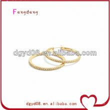 (WS3638) brincos de argola de jóias em aço inoxidável 316L para as orelhas