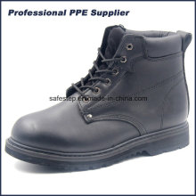 High Cut Genuine Leather Goodyear Welt Industrial Work Boot