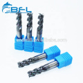 BFL Tungsten Carbide 4 Flute Square End Mill For Stainless Steel CNC Machining