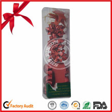 Chine fabrication en gros ruban rouge noël arc