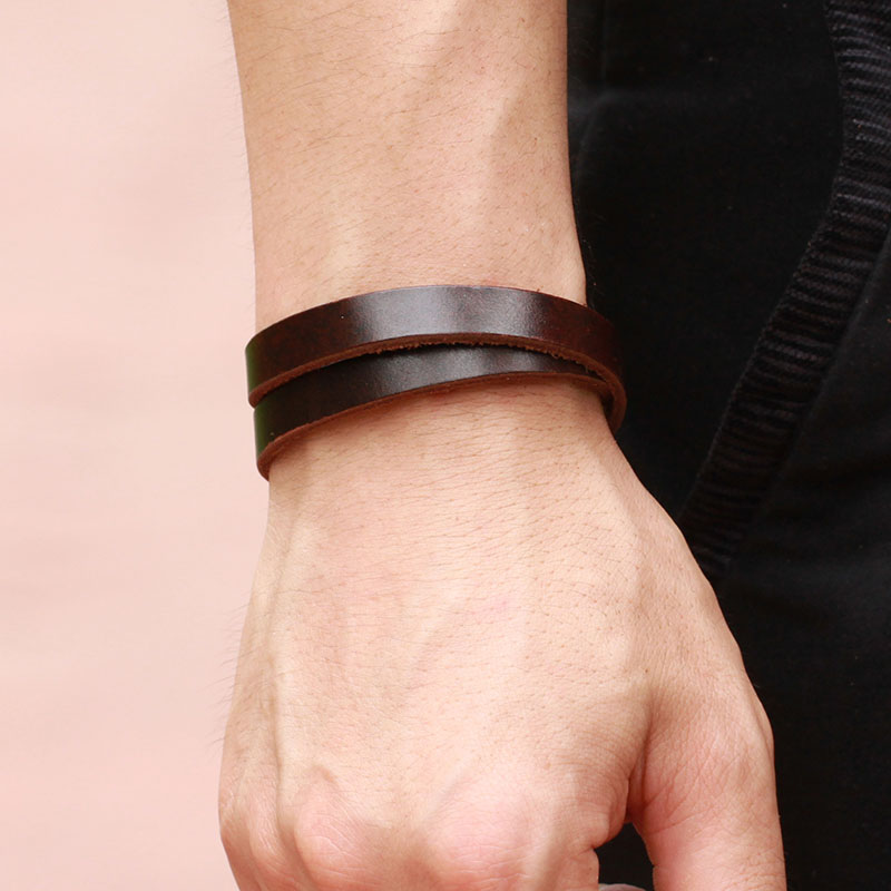 Men S Adjustable Leather Bracelets