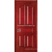Modernes Design Handwerker Tür geformt Teak Holz furnierte Haupttür Designs
