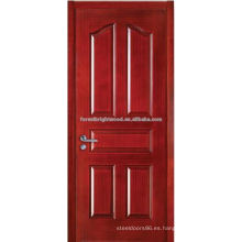 La puerta del artesano del diseño moderno moldeó diseños de madera de la puerta principal chapeada de la teca