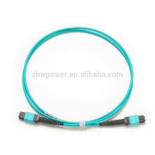 12 Волокна 10G OM4 Многорежимный 12 Strands MTP Женский 0.35dB Магистральный кабель, полярность Тип B, 3.0mm LSZH Bunch Aqua
