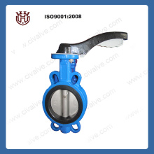 Cast iron Wafer butterfly valve with aluminum handle
