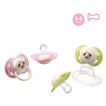 A0155 Round Dual Color Baby Silicone Pacifier