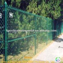 Grüne Autobahn pvc Beschichtung Kette Link Zaun