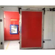 Ручная раздвижная дверь со стеклянным окном
