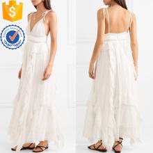 El último diseño 2019 correa de espagueti de encaje blanco vestido maxi de algodón fabricación ropa de mujer de moda al por mayor (TA0274D)