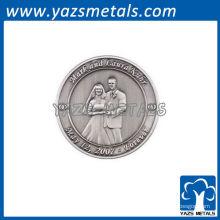Monnaies de mariage commémoratives personnalisées