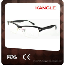 2017 hand made 3 colors wholesale half rim acetate optical frame