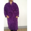 Purple Velour Terry Adult Kimono Bathrobe