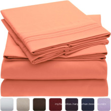 china wholesale 100% cotton colorful hotel bed sheets/flat sheet in wuxi hej