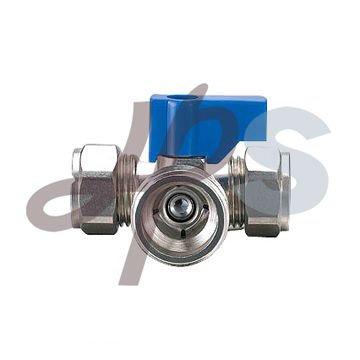 three way compression ball valve