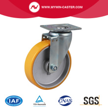 Moyenne 6 pouces 300Kg Plate Swivel TPU Caster