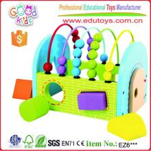 Zwei in einer geometrischen Formen Sorter Abakus Lernen Hölzerne Spielzeug