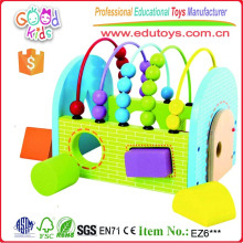 Two in One Formas geométricas Sorter Abacus Learning Wooden Toys