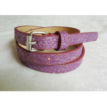 New arrival 2016 Fashion lady glitter pu belt for garments