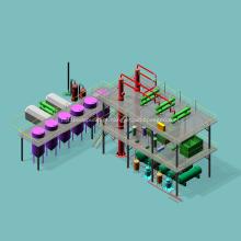 Equipamento automático de refinaria de petróleo bruto para venda