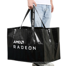 Hot sale high quality customized eco-friendly printed recyclable shopping pp woven laminated tote bag
