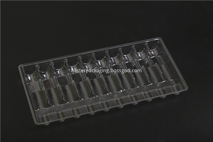 Clear PVC Vial Packing Tray