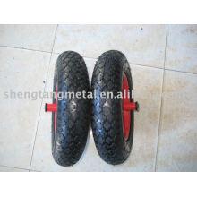 pneumatic rubber wheel 3.50/8