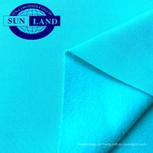 Colete de esportes outono casaco de vestuário pano 100% poliéster completamente maçante escovado jersey PK tecido de lã polar
