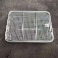 Welded Stainless Steel Wire Basket dengan Handle