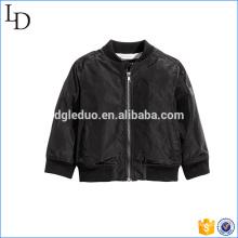 Em branco de alta qualidade bombardeiro jaqueta menino moda elegante crianças casaco