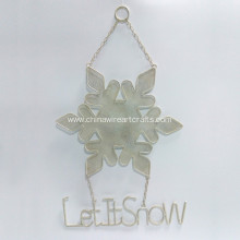 Metal White Snow Flower Wall Hanger Home Decor