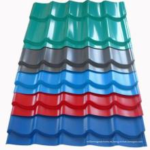 Hoja galvanizada de la hoja de la teja de acero para techos DX51D