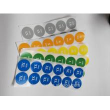 etiqueta impresa barata de la ropa del tamaño de material de papel