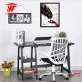 El último escritorio de oficina blanco de madera de lujo con el estante