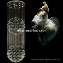 Iluminación de araña de cristal de bolas dobles con diseño moderno 92023