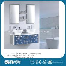 Gabinete de aço inoxidável de parede de design elegante