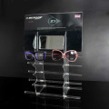 Estante de exhibición de ventana de acrílico para gafas