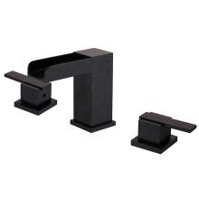 06115B Black color Double Handle Basin Faucet