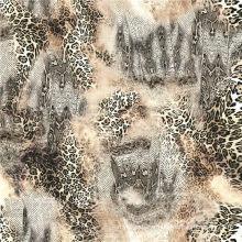 Tissu imprimé de pêche de laine tissée pour la robe des femmes (TLD-053)