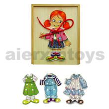 Vestido de madera Set Girl (80039)