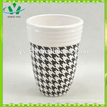 YSb40017-01-t Hot sale decal yongsheng ceramic bath accessory tumbler