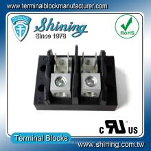 TGP-050-02A 50A 2 Pole Power Supply Bloco de terminação de iluminação LED