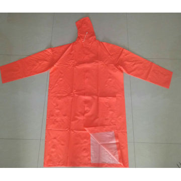 Heavy Duty Worker PVC / Poliéster com capuz Raincoat