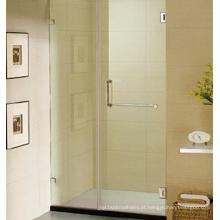 Porta do chuveiro sem moldura Porta do chuveiro de vidro com dobradiça
