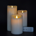 small size Moving Wick Led Candle With Timer