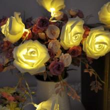 Bateria String Light Rose Flower Style