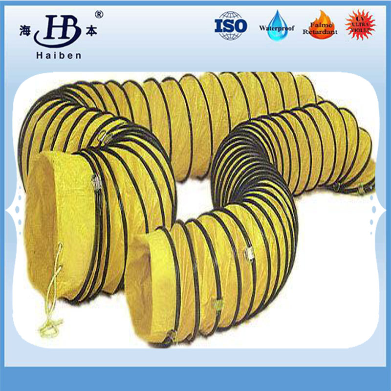 PVC coated plastic fabric air ventilation flexible duct