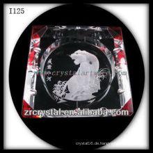 K9 Crystal Aschenbecher mit eingraviertem Bild